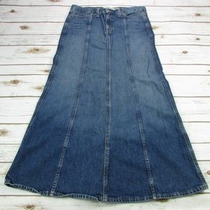 Gap Jeans Maxi Skirt A Line 6 Modest